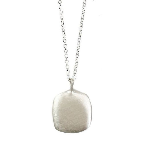 """Philippa Roberts - """"Puffy Square"""" Sterling Silver Pendant"""
