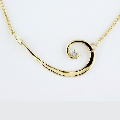 """Nautilus"" Necklace - 14kt Gold & Diamond"