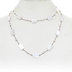 Mother of Pearl & White Pearl Necklace - Margo Morrison
