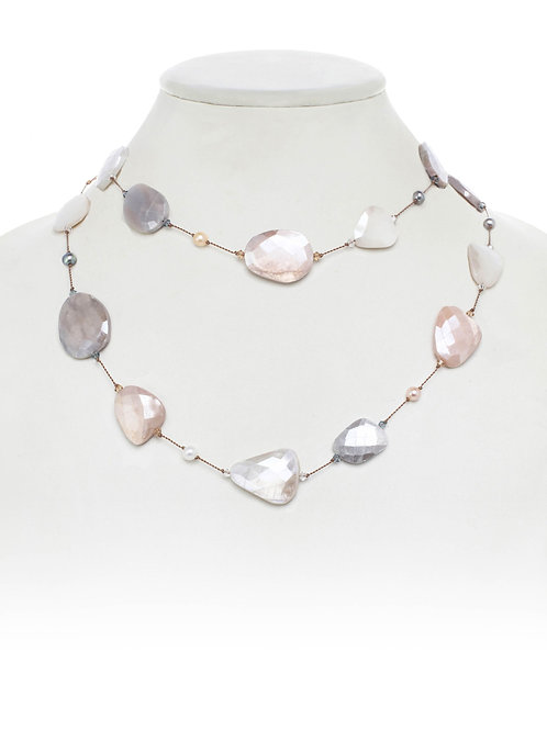 Moonstone & Freshwater Pearl Necklace