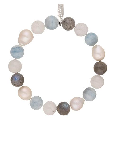 Margo Morrison - Aquamarine Ball & Pearl Bracelet