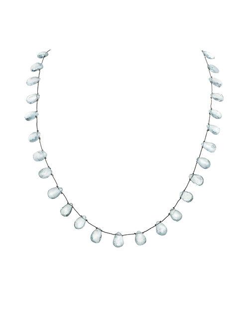 Margo Morrison - Aquamarine Teardrop Necklace