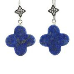 "Lapis ""Clover"" Earrings - Margo Morrison"