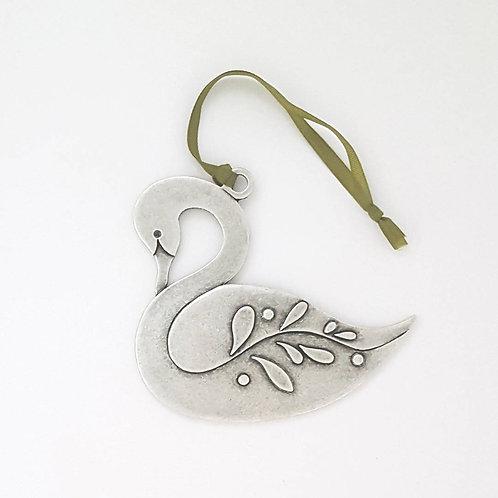Swan Ornament - Pewter