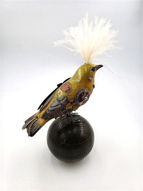 Mullanium - Bird Sculpture on Croquet Ball