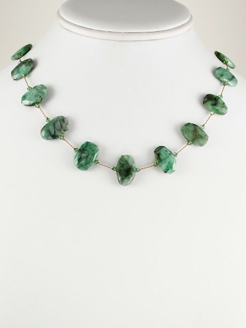 Margo Morrison - Raw Emerald Necklace