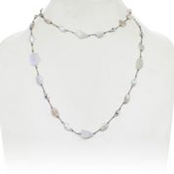 Moonstone, Pyrite & Pearl Necklace - Margo Morrison