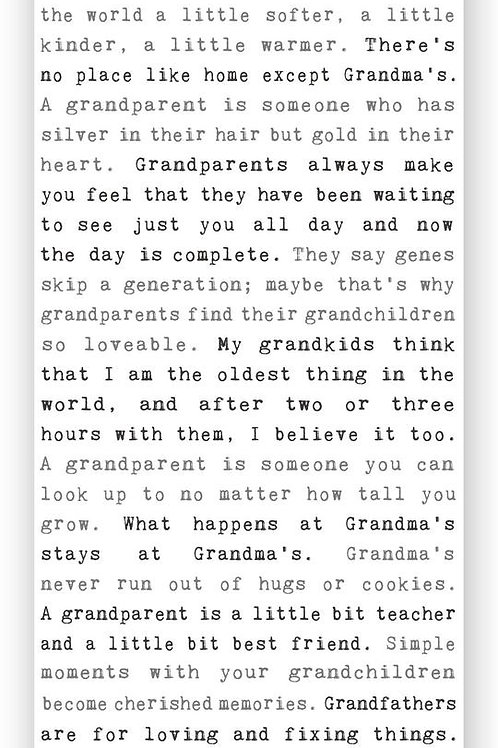 """Grandparents"" Typewriter Sign"