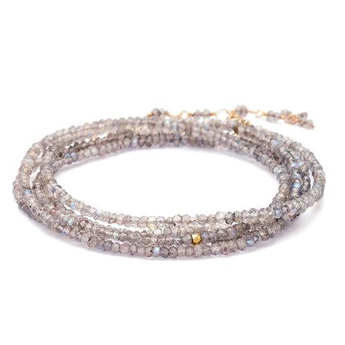 Labradorite & 18kt GoldWrap Bracelet