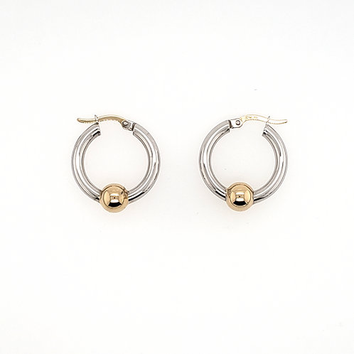 """""""Cape Cod"""" Hoops - Sterling & 14kt Gold"""