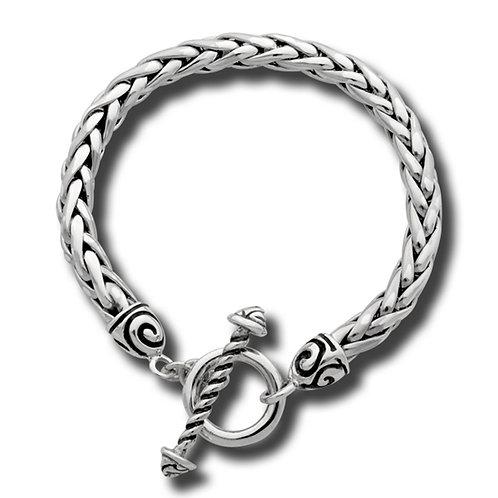 Swirl Toggle Bracelet - Sterling Silver