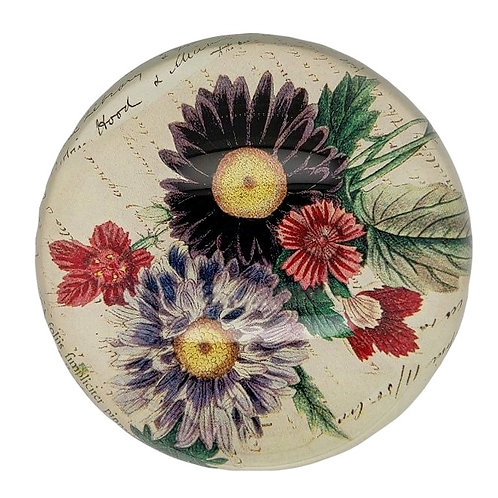 John Derian - Dome Paperweight - Asters