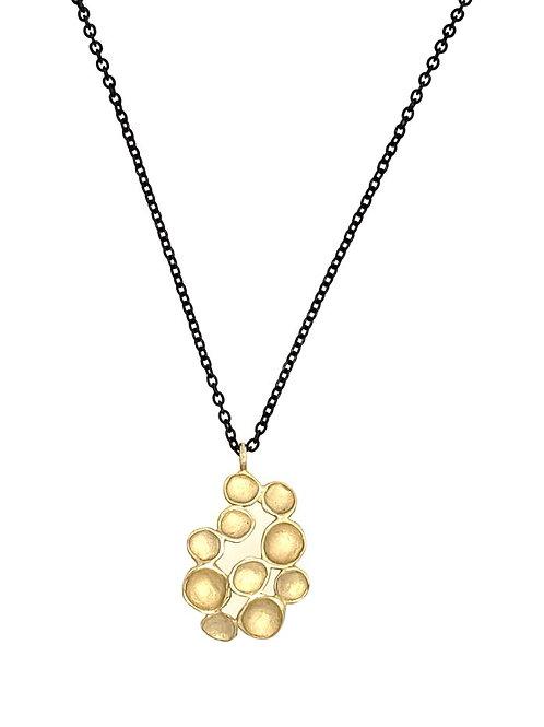 """Pod"" Pendant - 18kt Gold Vermeil & Oxidized Sterling Silver"