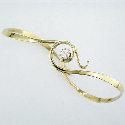 """""""Twining Spiral"""" Bracelet - 14kt & Diamond"""