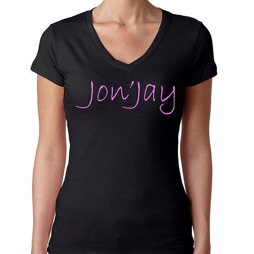 Ladies V-neck Jon'Jay Tee