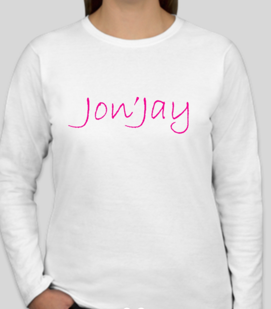 Jon'Jay Ladies white long sleeve