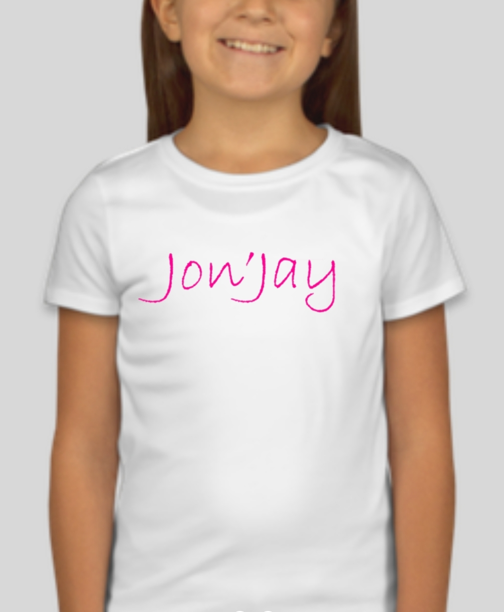 Jon'Jay Girls white tee