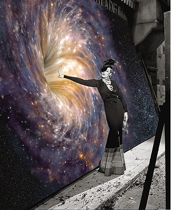 Intergalactic Surrealism Collage Artwork - Marlene Dietrich