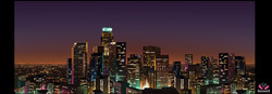 L.A. Skyline Night Matte Painting
