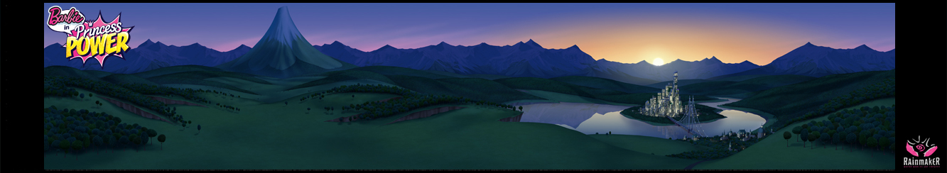 Windmere Sunset Matte Painting