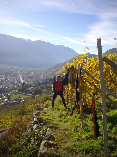 Dirupi har noen av de mest høytliggende vinmarkene for Nebbiolo i verden. Alt arbeid forgeår for hånd.