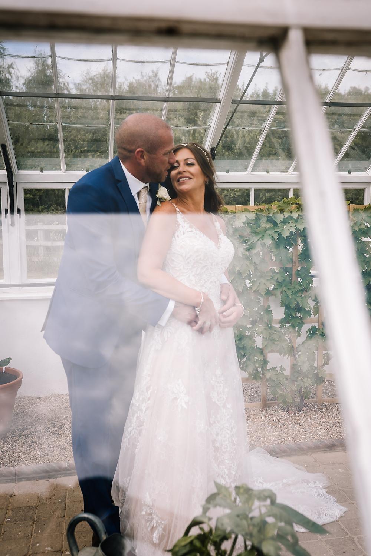 Greenhouse happy couple wedding
