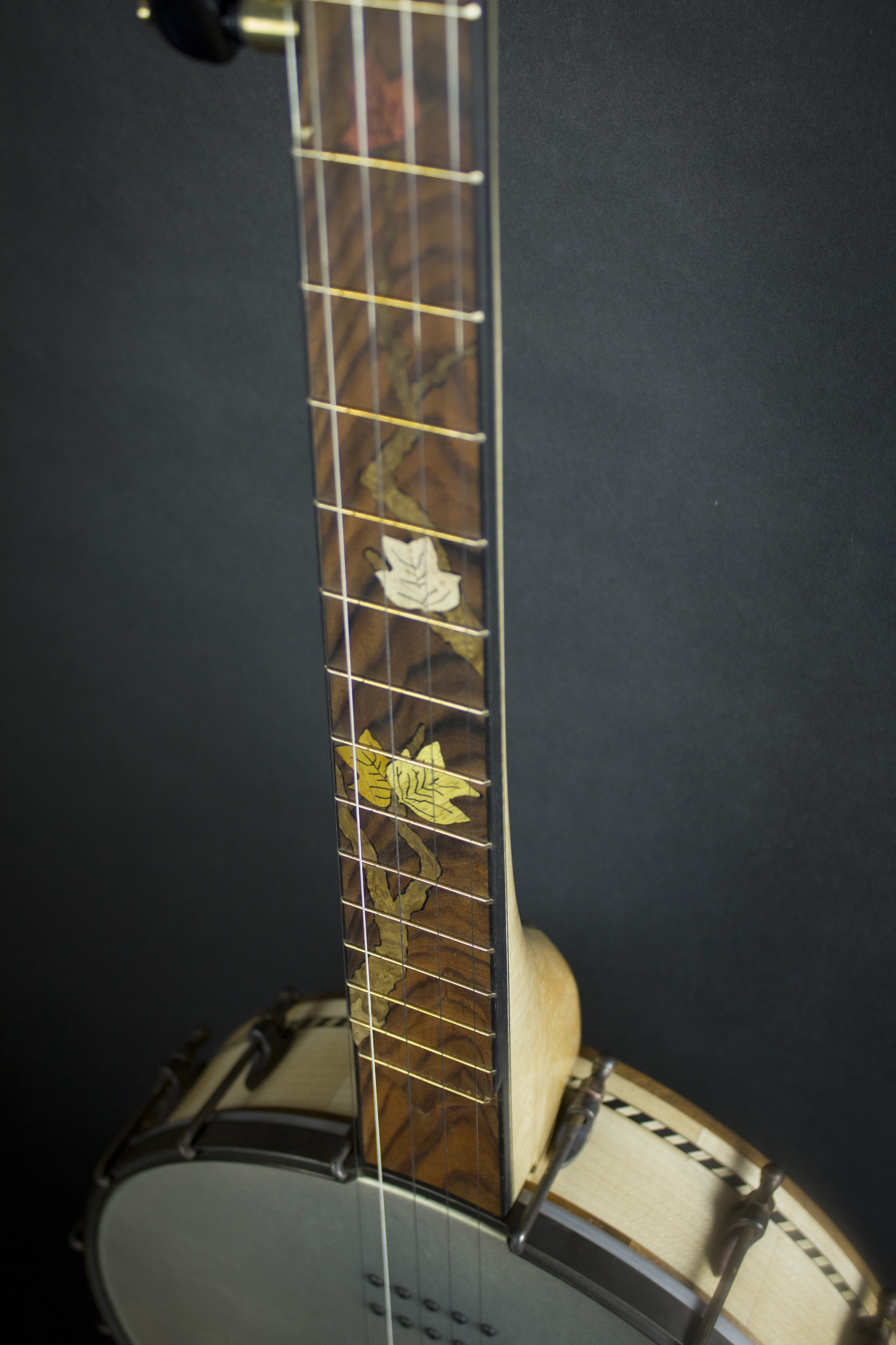 Leaves Banjo fretboard