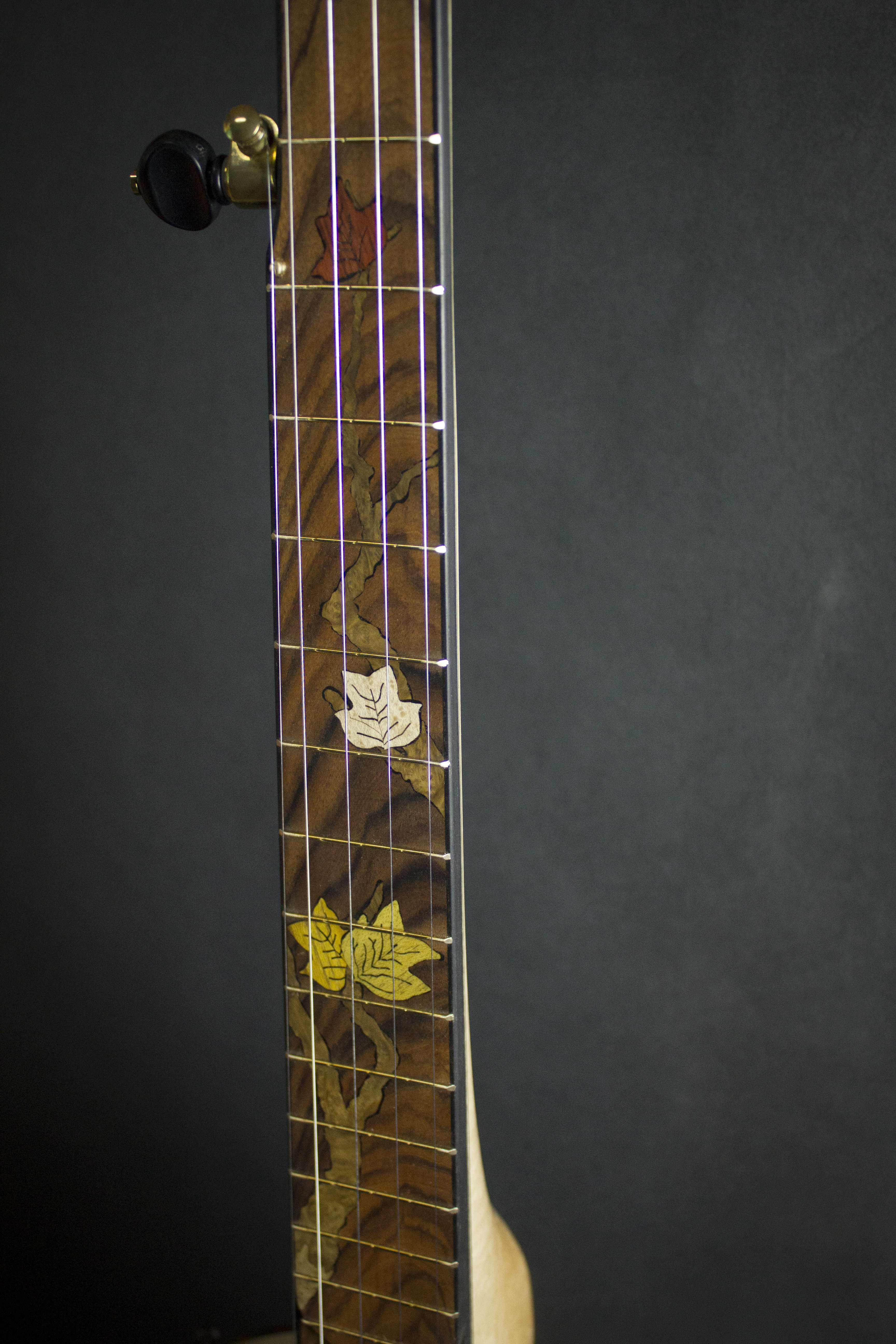 Leaves Banjo Inlay