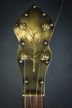 Leaves Banjo Peghead