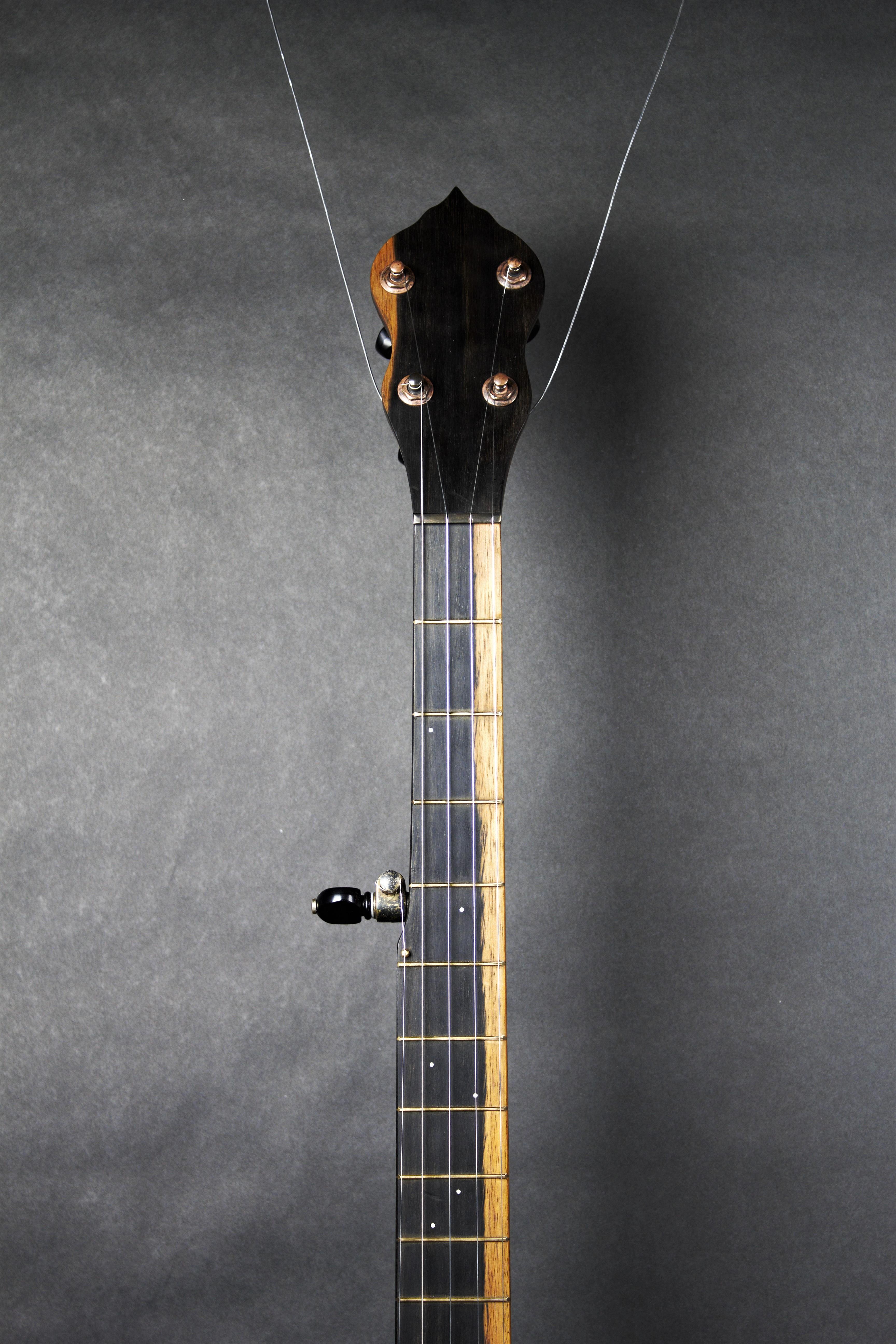 banjo neck front - fox