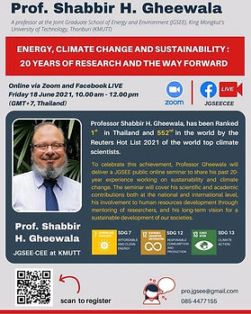 Energy Climate Change and Sustainability: 20 Years of Research and the Way Forward