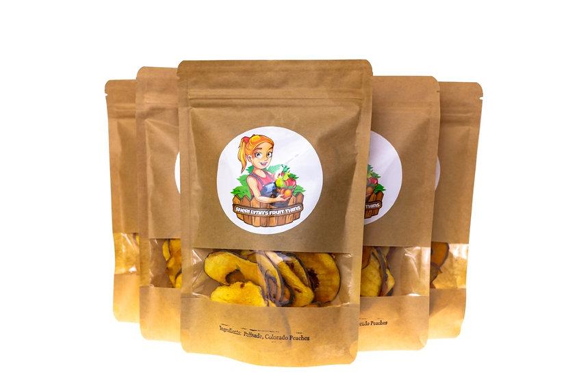 Sheri Lynn's Fruit Thins - Peach 5 Pack - 2 oz per bag