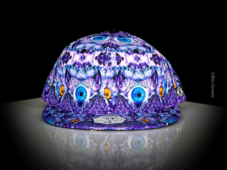 Psychedelic Owl Shallow Snapback