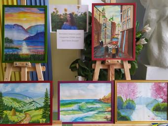 Виставка живописних робіт у коледжі
