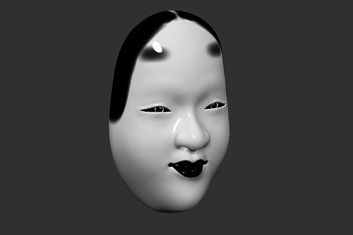 Wakaonna japanese Mask 3D printable model