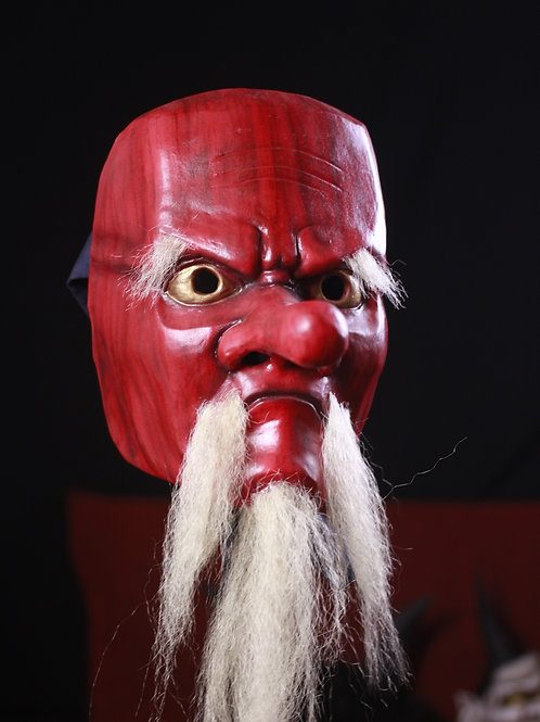 Tengu Mask textura madera