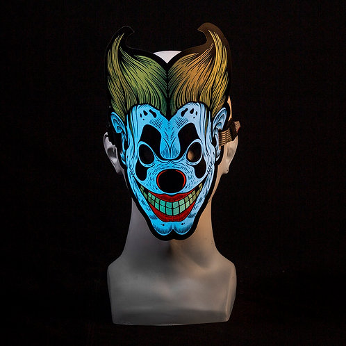 Blond Clown LED mask Music Reactive