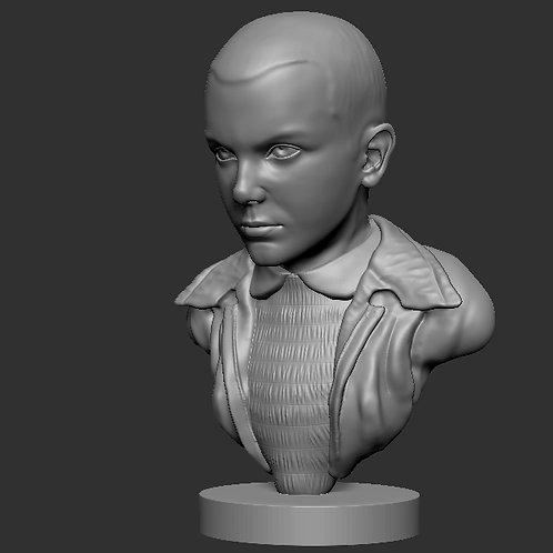 Eleven Bust Stranger Things 3D printable model