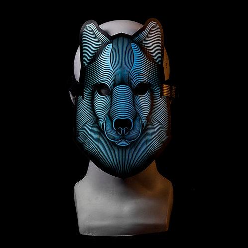 Wolf LED mask Music Reactive
