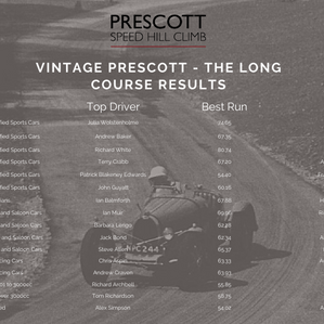 Vintage Prescott - The Long Course round-up