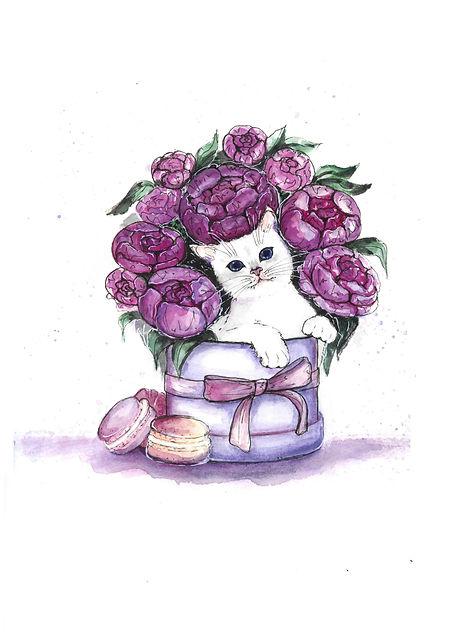 кот и коробка цветов.jpg