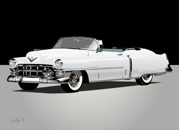1953 Cadillac Eldorado - Framed 18x24 Print