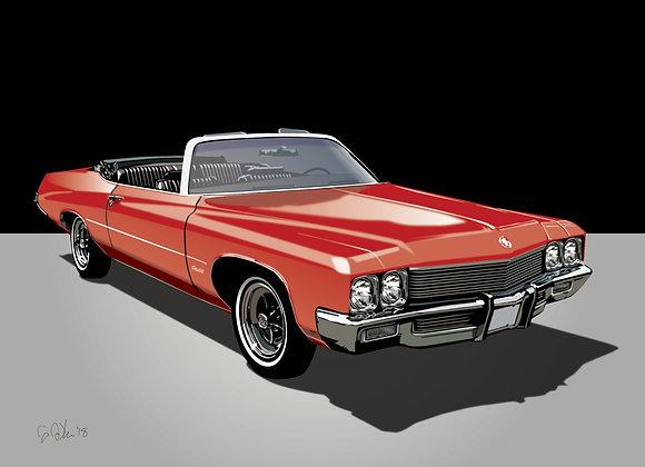 1972 Buick Centurion - Framed 18x24 Print