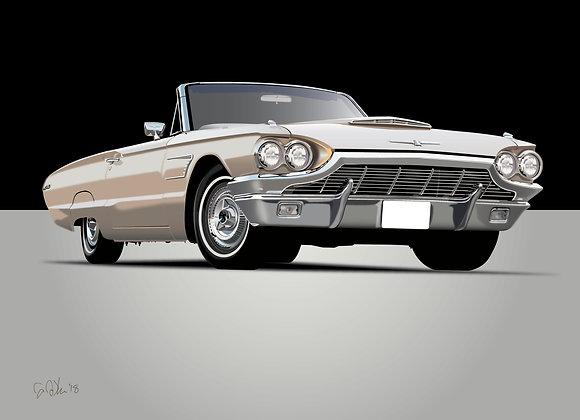 1964 Ford Thunderbird - Framed 18x24 Print