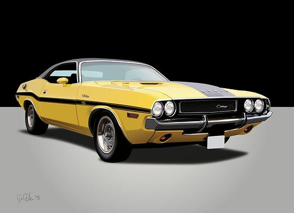 1970 Dodge Challenger - Framed 18x24 Print