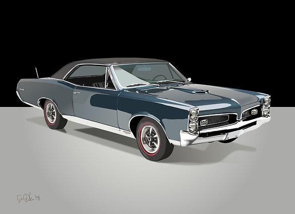 1967 Pontiac GTO - Framed 18x24 Print
