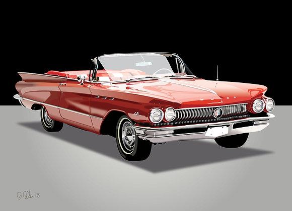 1960 Buick LeSabre - Framed 18x24 Print