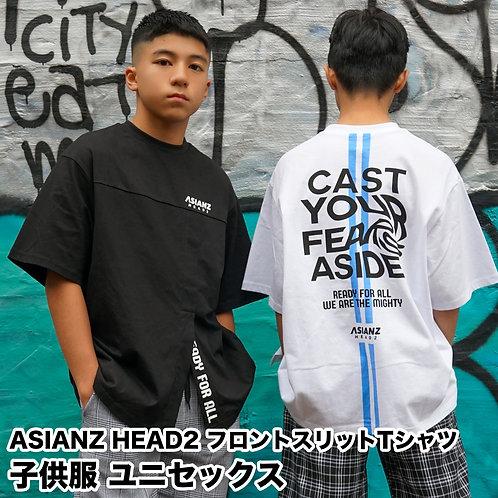 ASIANZ HEAD2 フロントスリットTシャツ
