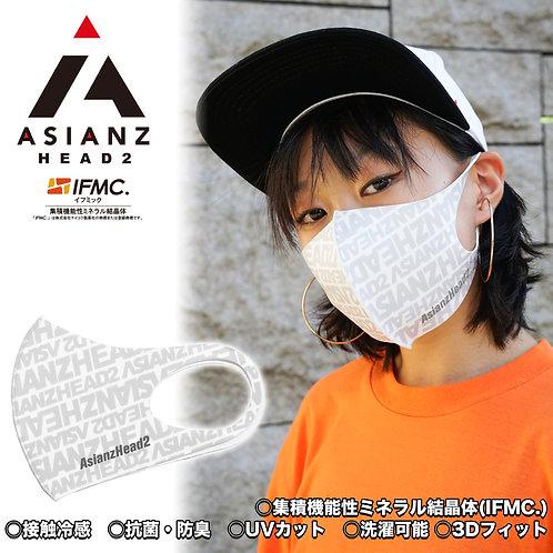 ASIANZ HEAD2 LOGOスポーツクールマスク 総柄ホワイト (20065201)