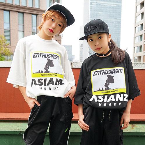 ASIANZ HEAD2 転写ビッグTシャツ